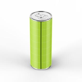 355ml energy drink can mockup