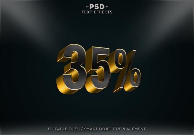 ブラックロイヤルディスカウント35%編集可能なテキストエフェクト
