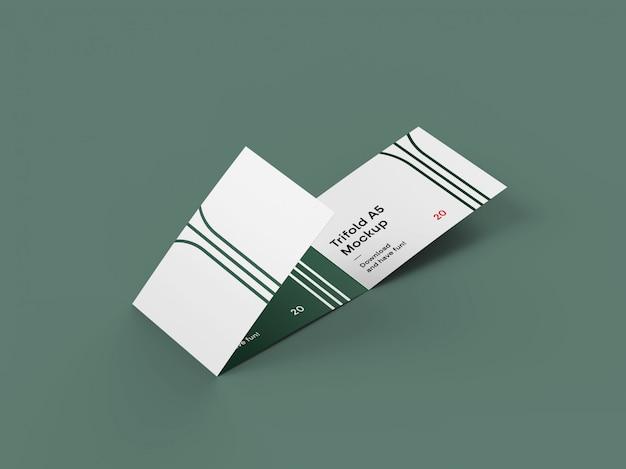 3つ折りパンフレットのモックアップ