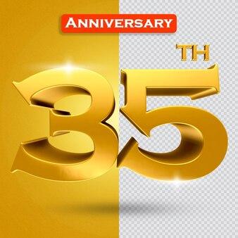 황금 스타일의 3d 35주년