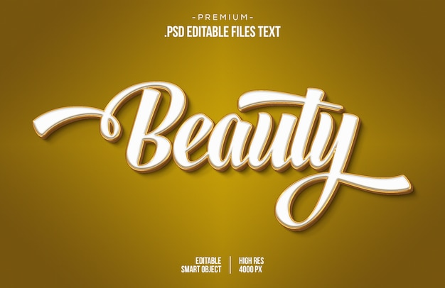 Белый текстовый эффект 3d, белый текстовый эффект 3d, белый золотой текстовый эффект с использованием стилей слоя