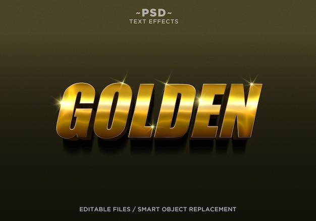 3d золотой стиль 4 эффект редактируемый текст