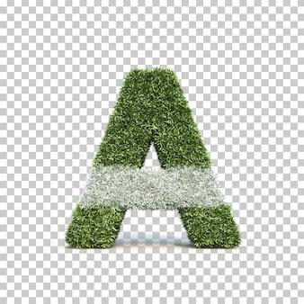 3d-рендеринг травы игрового поля алфавита a