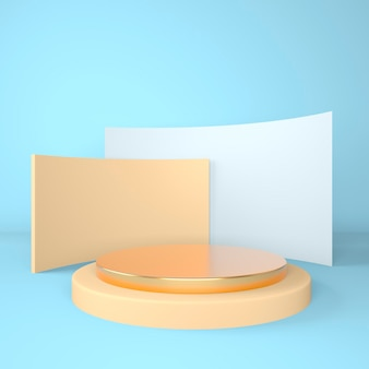 3d abstract background mock up scene geometry shape podium for product display 3d illustration.