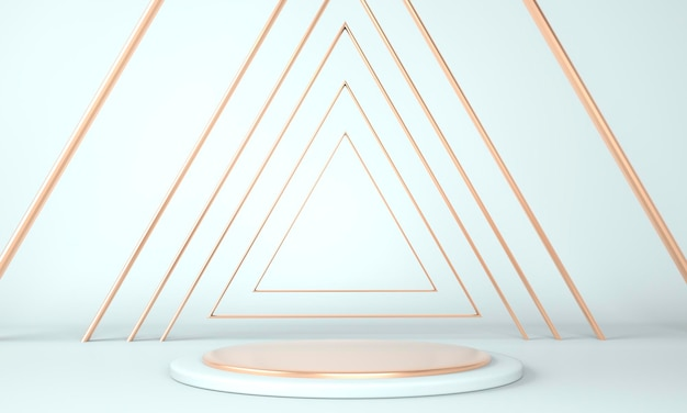 3d abstract background, mock up scene geometry shape podium for product display, 3d illustration.