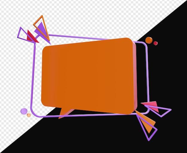 3d абстрактный баннер чат пузырь изолированные