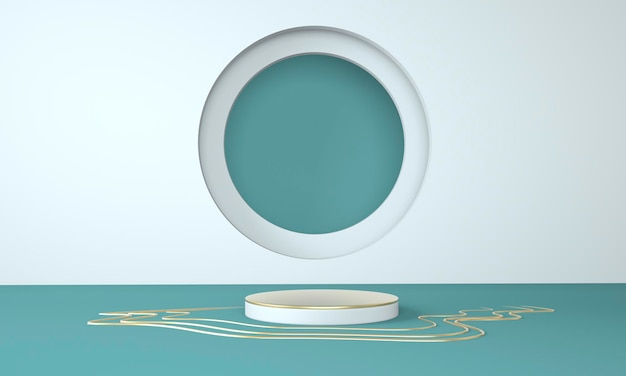 3d подиум в форме абстрактной геометрии для отображения продукта