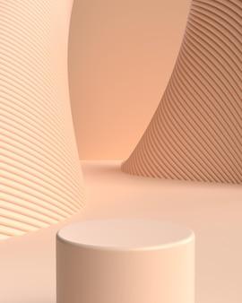 Подиум формы геометрической формы абстрактной сцены 3d для демонстрации продукта