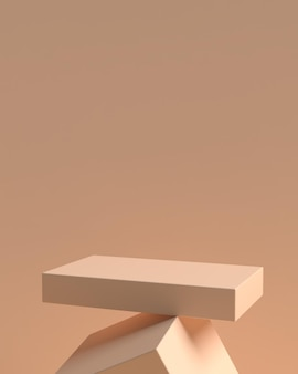 3d abstract scene geometry shape podium for product display