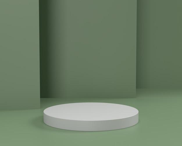 3d 추상 장면 기하학 모양 연단