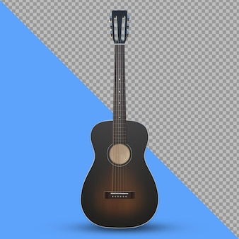 Изолированный рендеринг 3d акустической гитары