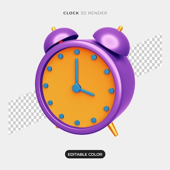 分離された3d目覚まし時計アイコンデザイン