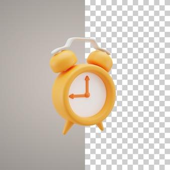 3d alarm clock illustration