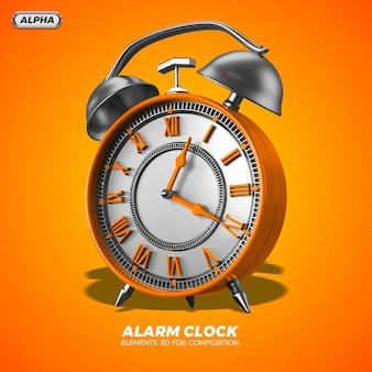 3d alarm clock render