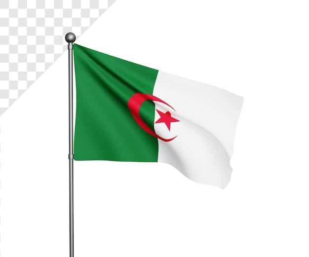 3d 알제리 국기 그림