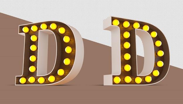 3d алфавит с лампочкой