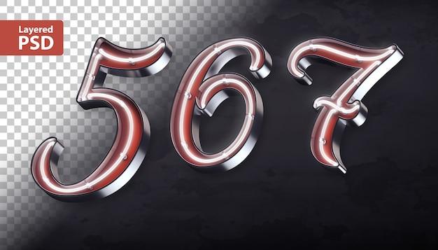 3d алфавит с блестящей неоновой формы