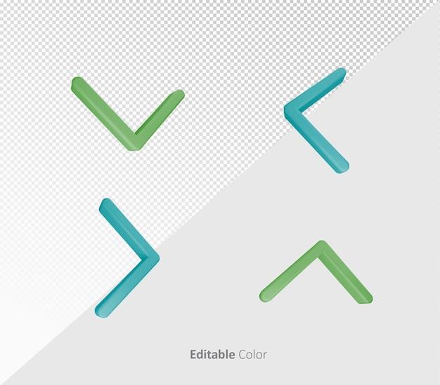 3d arrow bundle pack psd template with editable color