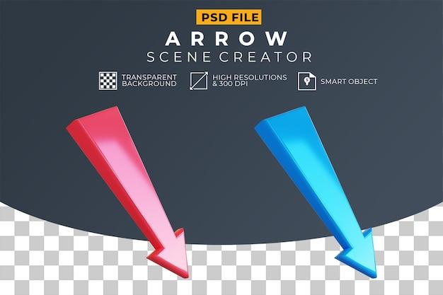 3d стрелка красный и синий набор
