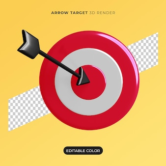 3d arrow target icon isolated