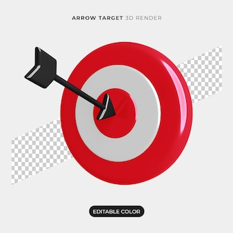 3d arrow target icon mockup isolated