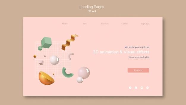 3d art landing page