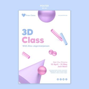 Modello di poster di arte 3d