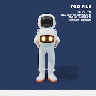 ロボットと3d宇宙飛行士