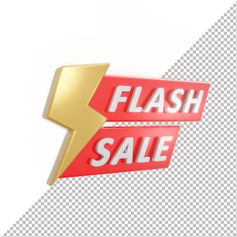 3d badge flash sale isolated