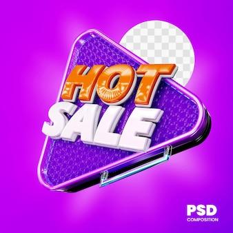 分離された3dバッジホットセール Premium Psd