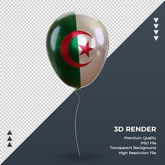3d 풍선 알제리 플래그 현실적인 호일 렌더링 전면 보기