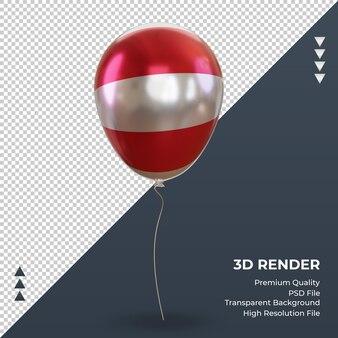 3d 풍선 오스트리아 플래그 현실적인 호일 렌더링 전면 보기