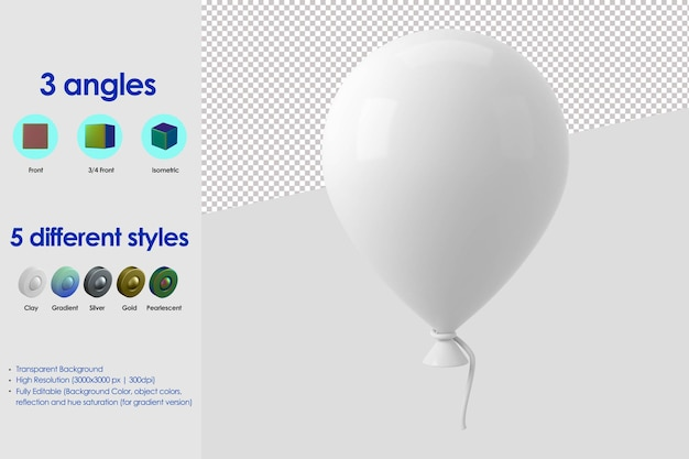 3d 풍선 아이콘