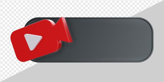 3d баннер с видеомагнитофоном или изолированной кнопкой воспроизведения