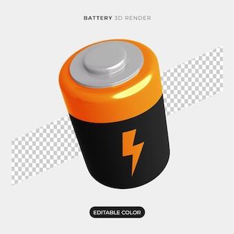 Значок батареи 3d изолированные