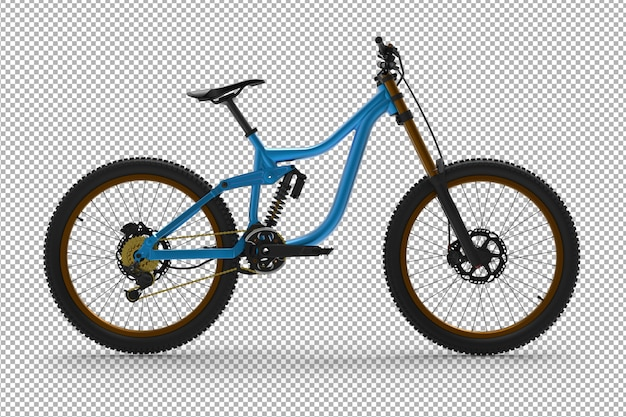 3d bicycle isolated.