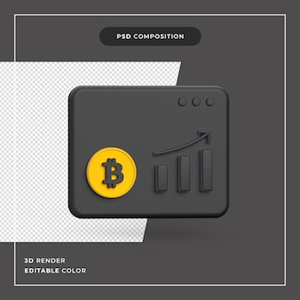 3dビットコインの成長の概念