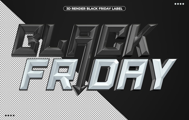 メイクアップのための3dブラックフライデーホワイトロゴ