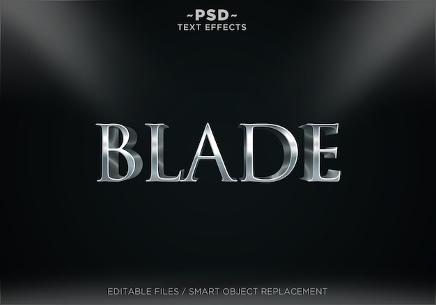 3d blade style effects editable text