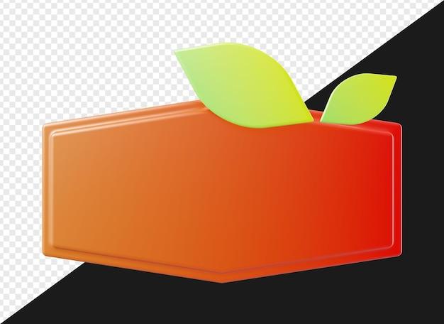 3d пустой баннер с листьями для подставки с логотипом