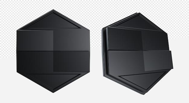 3d пустая эмблема или формы логотипа платформы изолированы