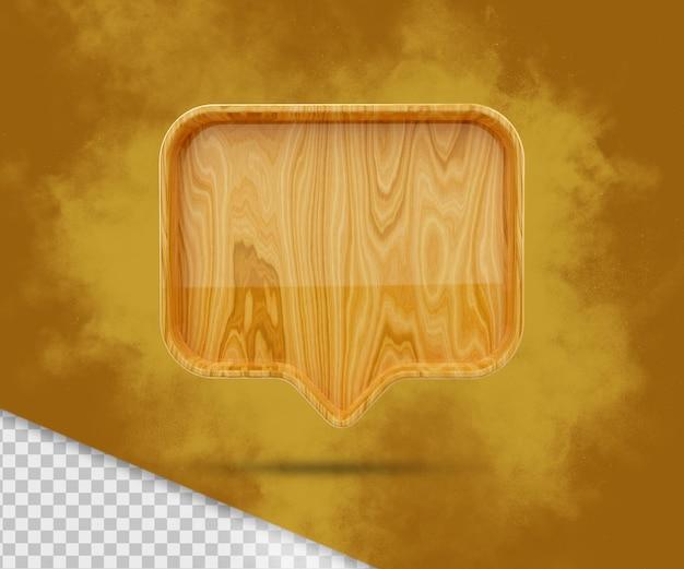 3d空白の木製通知