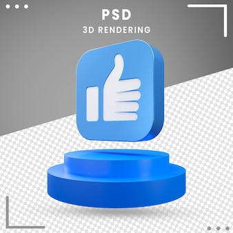 3d blue icon rotated like