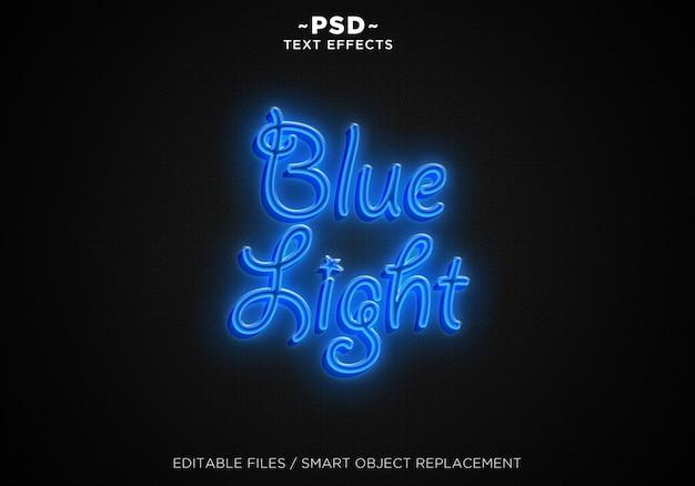 3d blue ligh editable text effect