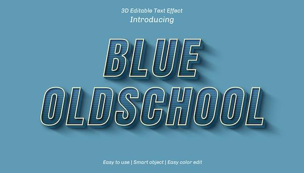 3d blue oldschoolの編集可能なテキスト効果