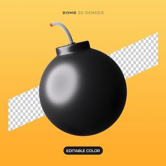 고립 된 3d 폭탄 아이콘