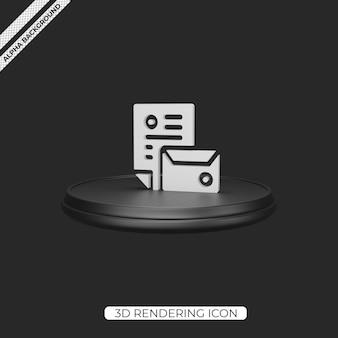3d 브랜딩 렌더링 아이콘 디자인