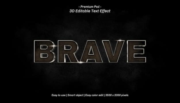 3d brave editable text effect