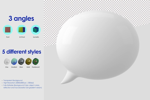 3d bubble speech icon