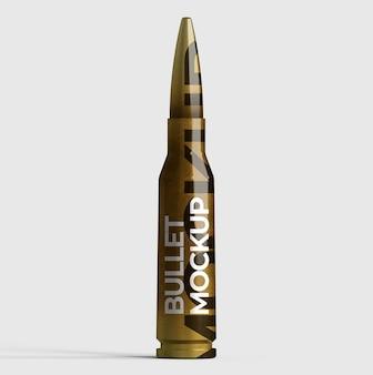 ブランディングおよび広告プレゼンテーション用の 3d 弾丸モックアップ